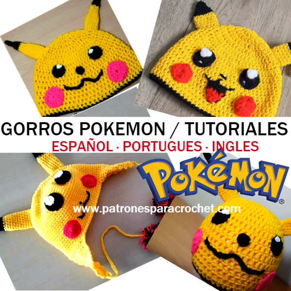 gorro ganchillo de pokemon paso a paso en video