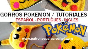 Gorros Pokemon para Tejer al Crochet / Tutoriales en Español - Portugues - Ingles