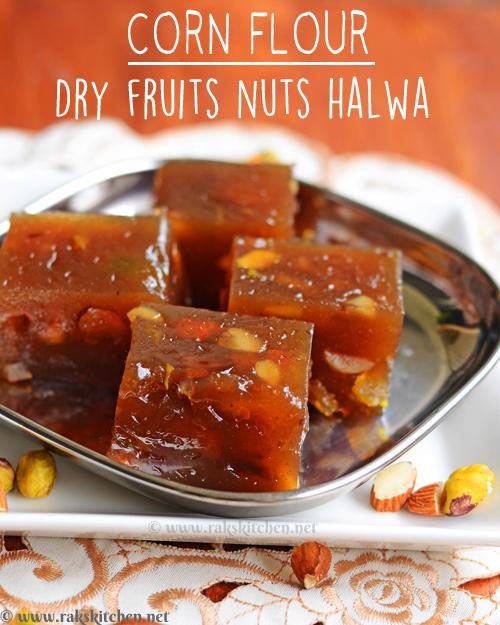 corn-flour-halwa-dry-fruits-nuts