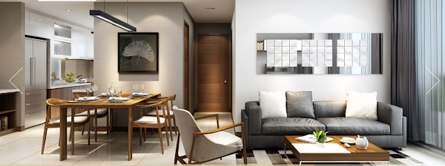 Không gian phòng khách, phòng ăn chung cư Rivera Park Hà Nội