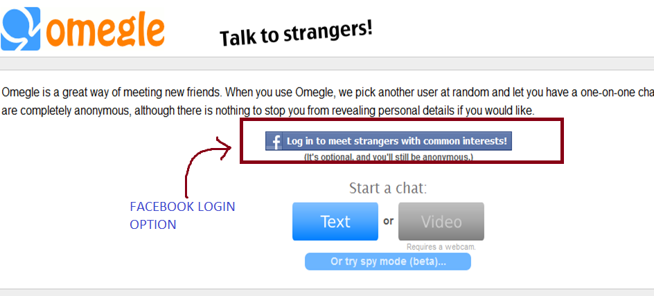 How to meet people on omegle
