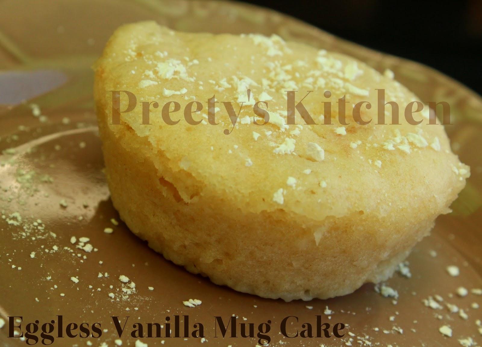 Eggless Vanilla Cake In A Mug Microwave Recipe