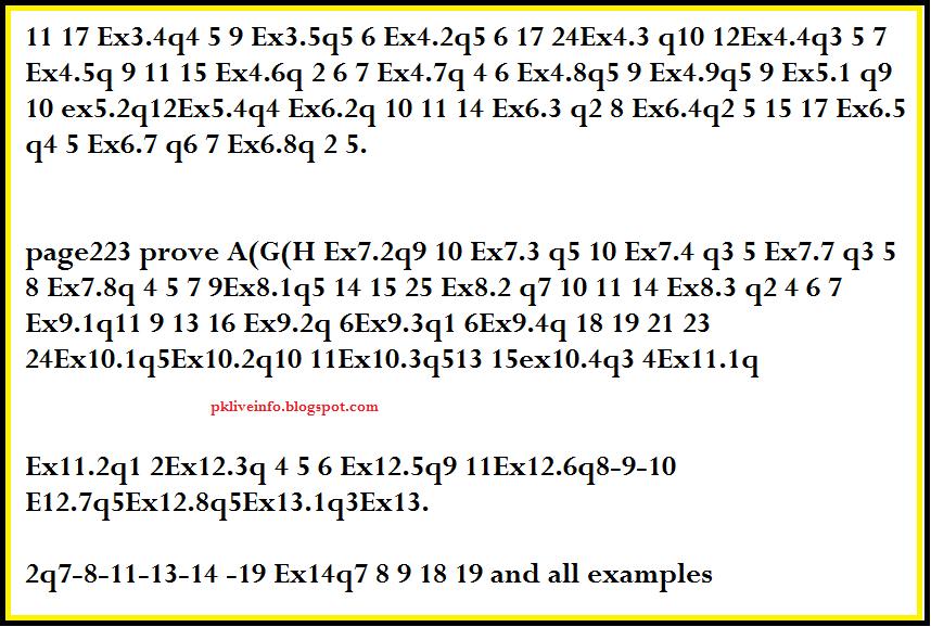 1st Year Math Guess Paper - Pk Live Info