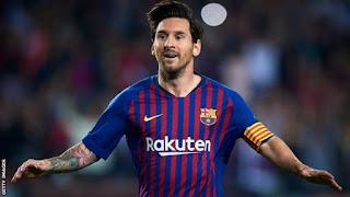 Barcelona striker Lionel Messi broke his arm during a 4-2 win over Sevilla