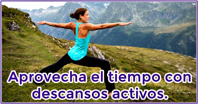 El descanso activo te ayuda a recuperarte de la fatiga muscular