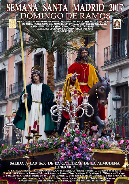 Programa, Horarios e Itinerarios Semana Santa Madrid 2017