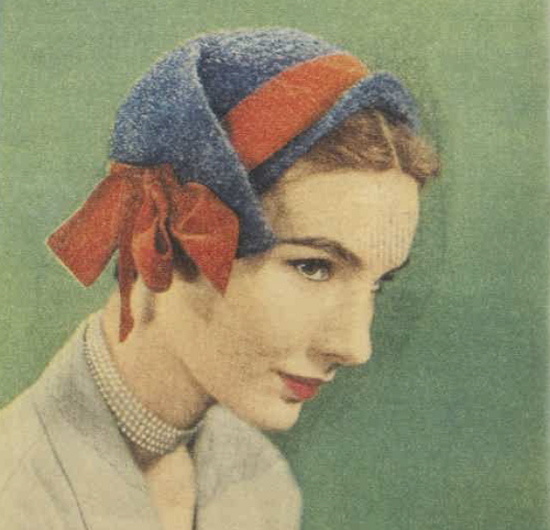 Blue and red hat 1950 AWW