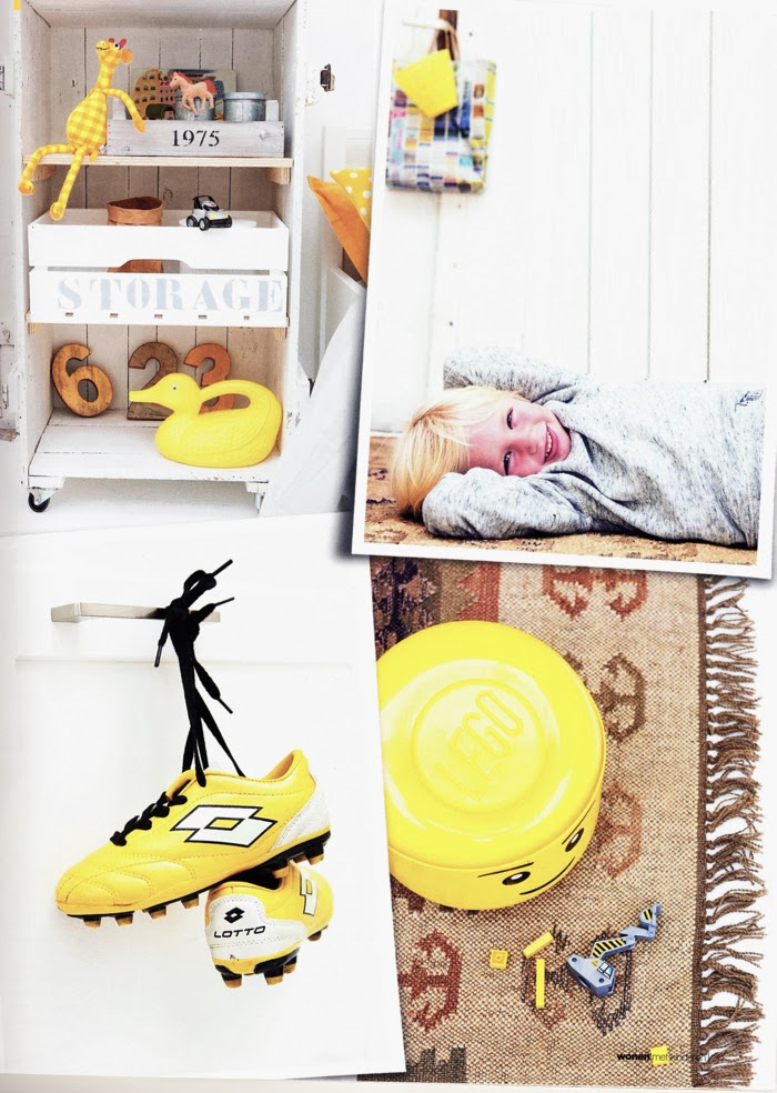 yellow boy's room  photo Bart Brussee - styling Esther Loonstijn