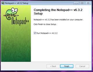 Cara install notepad++