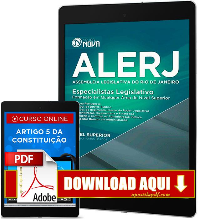 Apostila ALERJ 2016 PDF Download Especialista Legislativo
