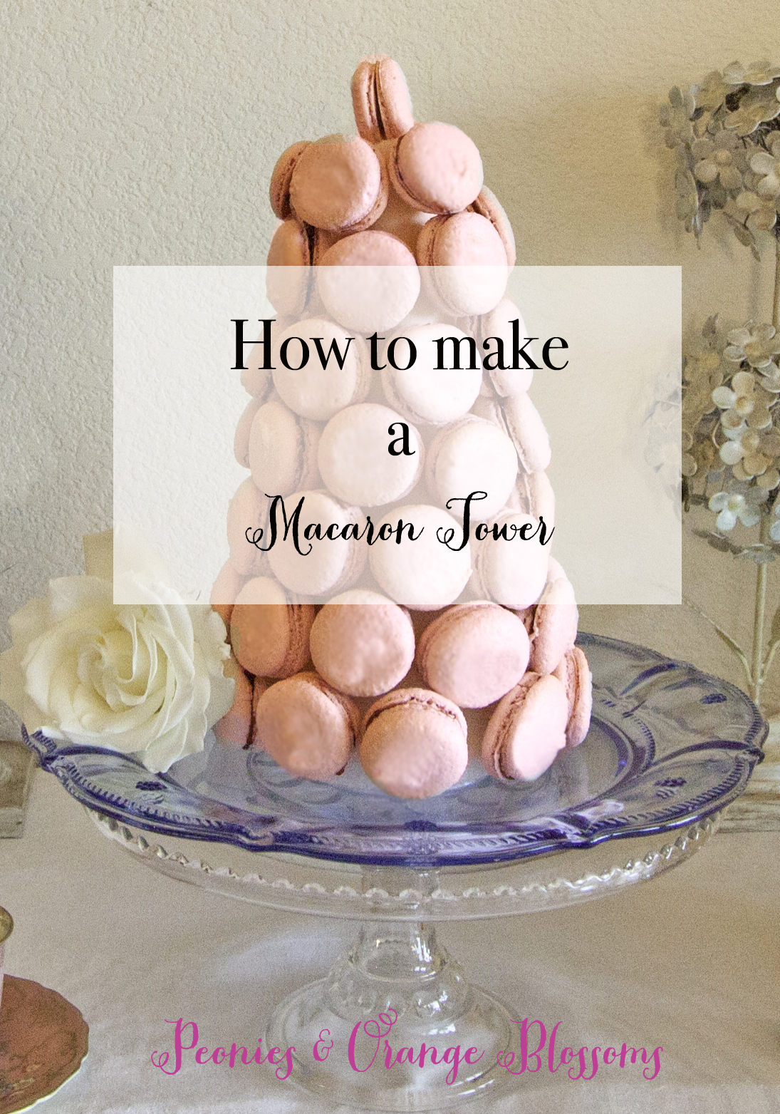 How to Make a Macaron Tower - a DIY tutorial for French Macaron Towers!