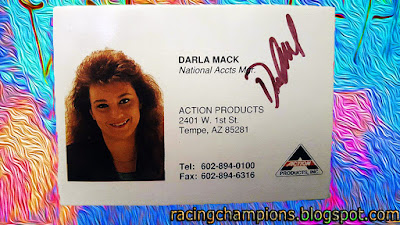Darla Mack Perkins Action Racing Champions 1/64 NASCAR diecast blog