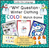 A fun winter snowman activity set from Looks Like Language!