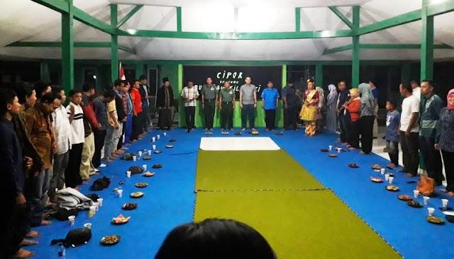 Danramil Tegal Selatan memberikan sambutan pada acara Cipok bersama Wakil Bupati Tegal