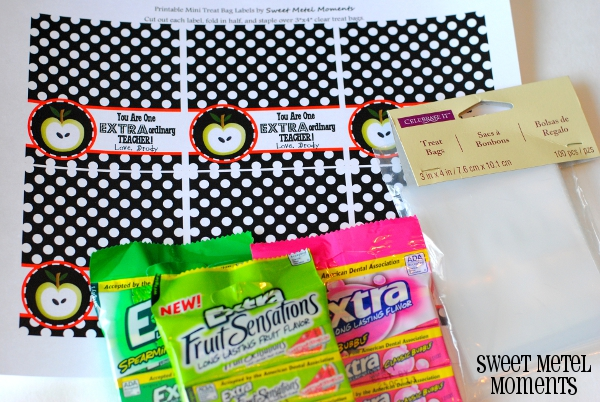 photograph about Extra Gum Teacher Appreciation Printable titled Lovable Metel Situations: Totally free Printable - Instructor Appreciation