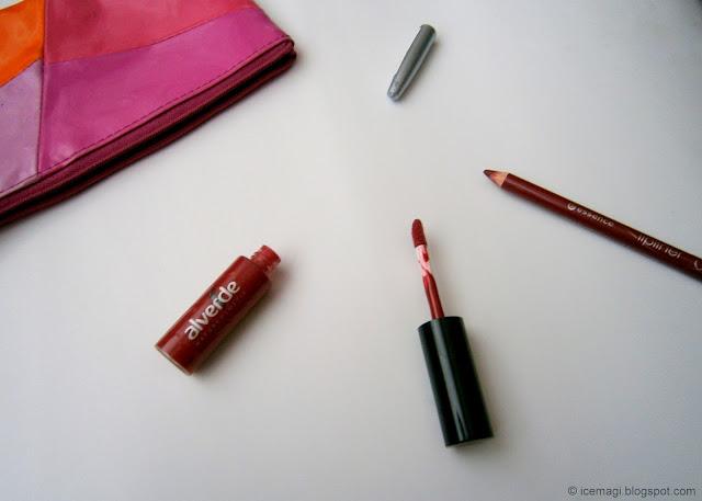 Alverde liplaquer & Essence lip liner