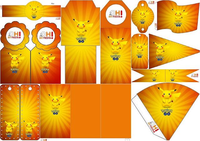Pikachu: Imprimibles Gratis para Fiestas.