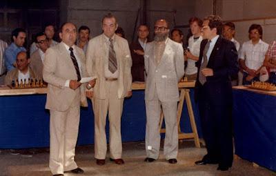 Simultáneas de ajedrez de Viktor Korchnoi en Lérida en 1980