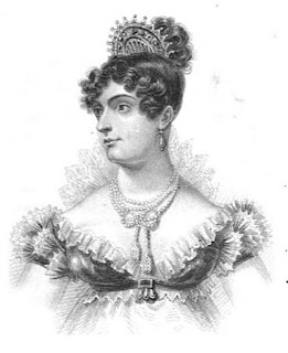 Caroline, Princess of Wales  from Memoirs of her late  royal highness Charlotte  Augusta by Robert Huish (1818)