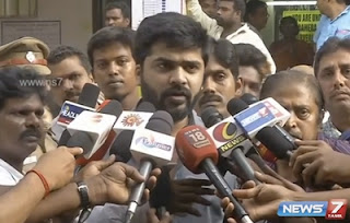 Actor Simbu speaks after casting his vote | News7 Tamil