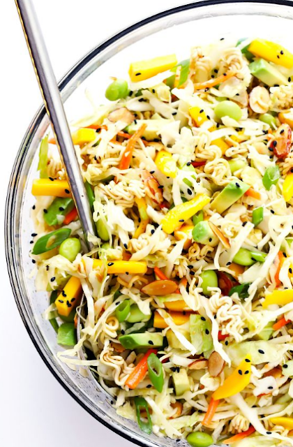 CRUNCHY ASIAN RAMEN NOODLE SALAD (A.K.A. BASICALLY THE BEST POTLUCK SALAD EVER)