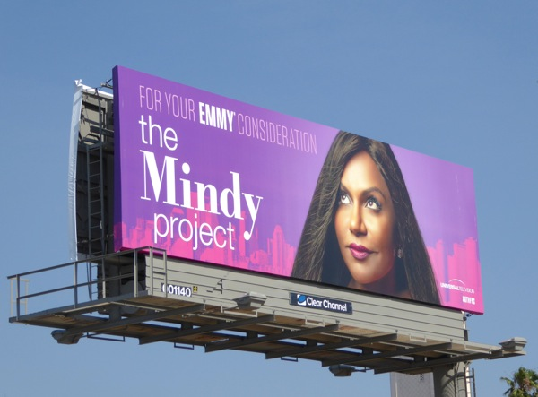 Mindy Project Emmy 2016 consideration billboard