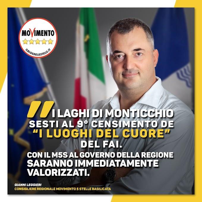 """Leggieri (M5S): """"I Laghi di Monticchio sesti al 9° Censimento de 'I Luoghi del Cuore' del FAI"""""""