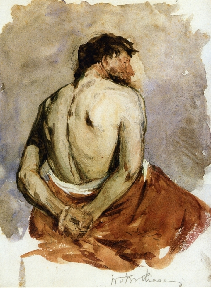 William Merritt Chase 1849-1916 | American painter | The Impressionist Nude portrait