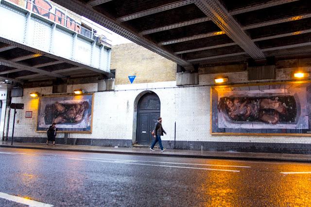 """Adam & Eva"" New Street Art Pieces By Spanish Artist Borondo On Old Street, East London. 1"