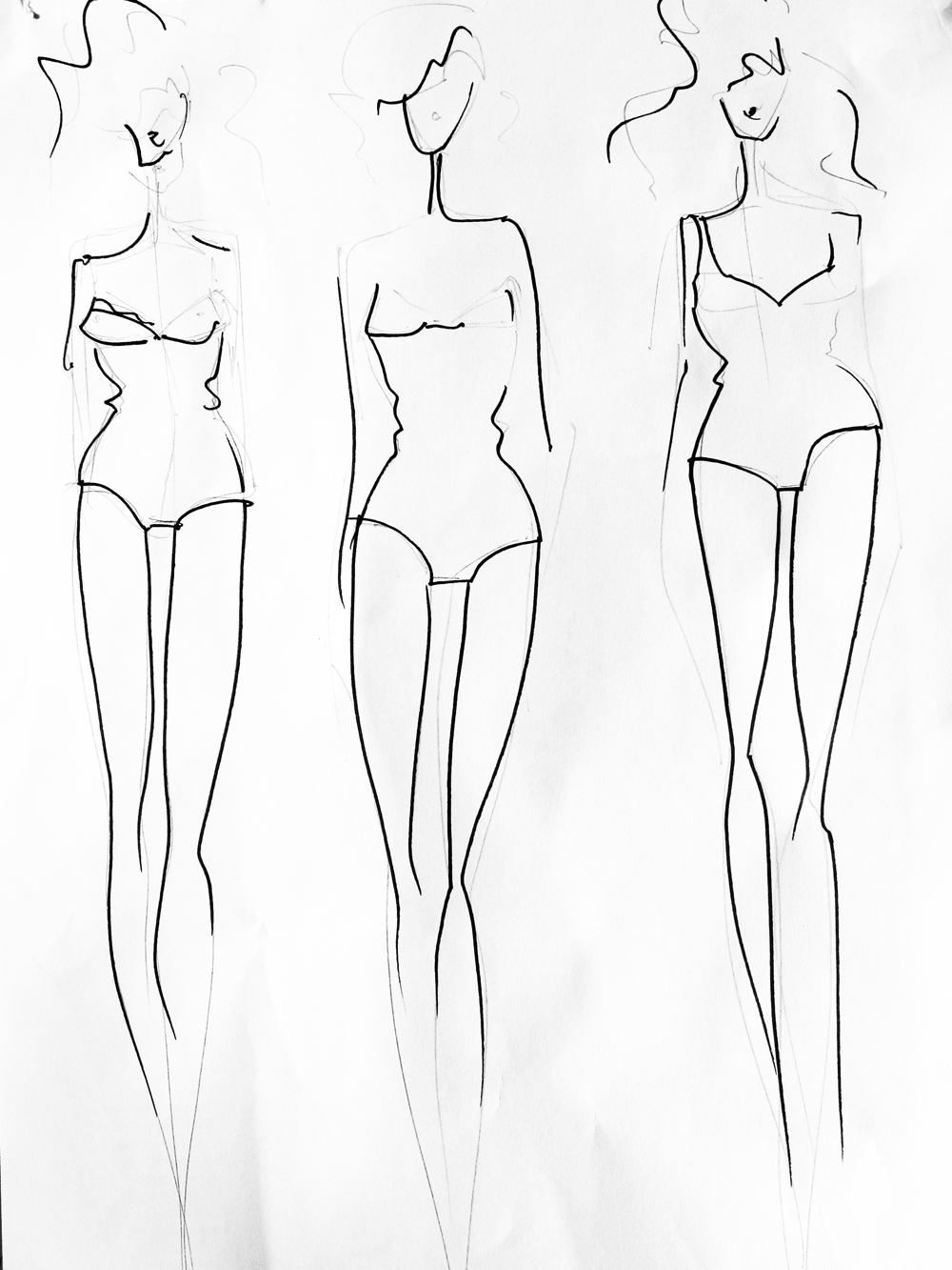 Tutorial how to create a fashion template from your own for Textiles body templates