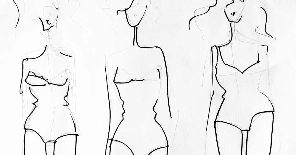 Tutorial How to create a fashion template from your own body - fashion template