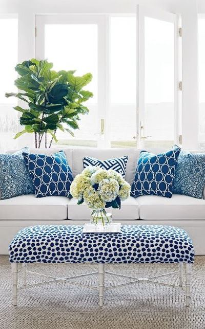 Blue & White Rooms and Very Affordable Blue & White Furniture
