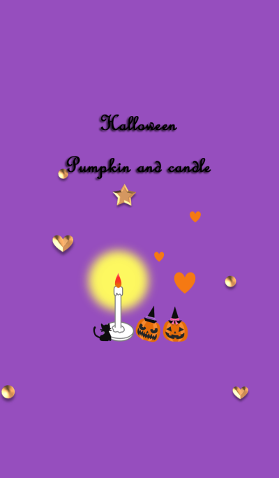 Halloween(Pumpkin and candle)