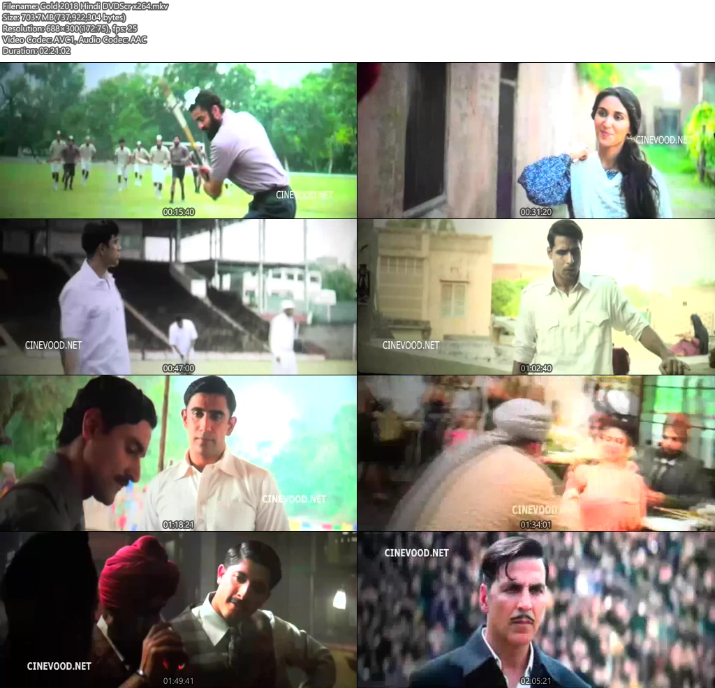 Gold 2018 Hindi DVDScr x264 | 480p 300MB | 100MB HEVC Screenshot