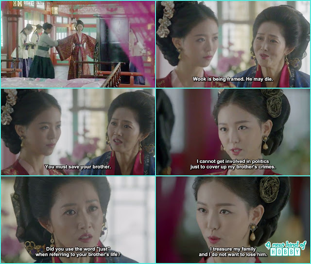 yeon hwa mother come to her asking help for wook but she show her back  - Moon Lovers Scarlet Heart Ryeo - Episode 19