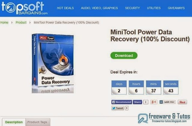 Offre promotionnelle : MiniTool Power Data Recovery gratuit (pendant 2 jours) !