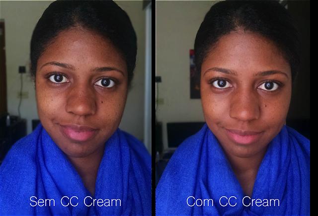 CC Cream da Mary Kay na pele negra (sem e com)