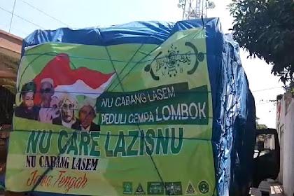 Lazisnu-NUcare Lasem Kirimkan 3 Truck Logistik Ke Lombok