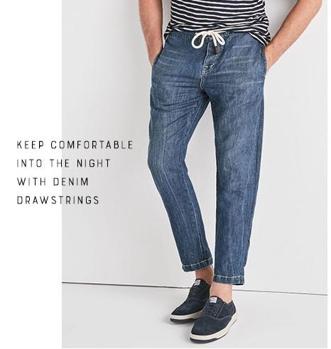 Men's Denim Drawstring Pant