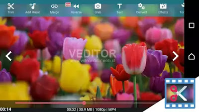 Aplikasi android video editor gratis mempercantik video