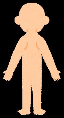 無地の人体のイラスト(デフォルメ・背面)