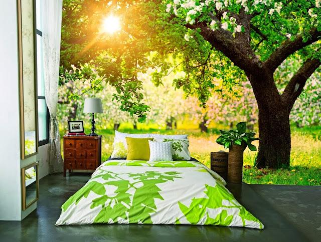 Trang trí phòng ngủ bằng bức tranh thiên nhiên