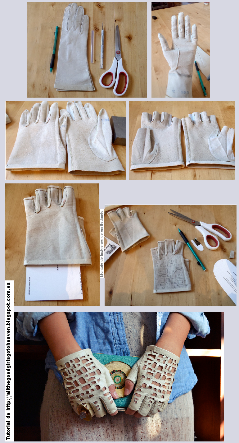 guantes, transformación, refashion, tunear, customizar, labores