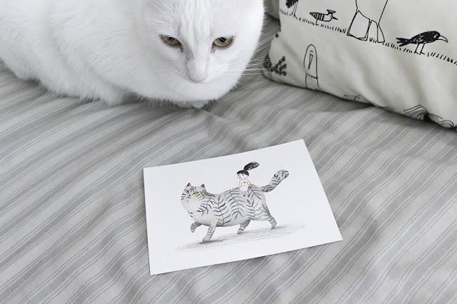 Gatos de papel, libroteca el gato de chesire, exposición gatos de papel, ilustración de gato, gato gordo, dibujo de gato, dibujo a tinta de gato, Mar Villar,