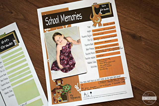 free-printable-school-memory-pages