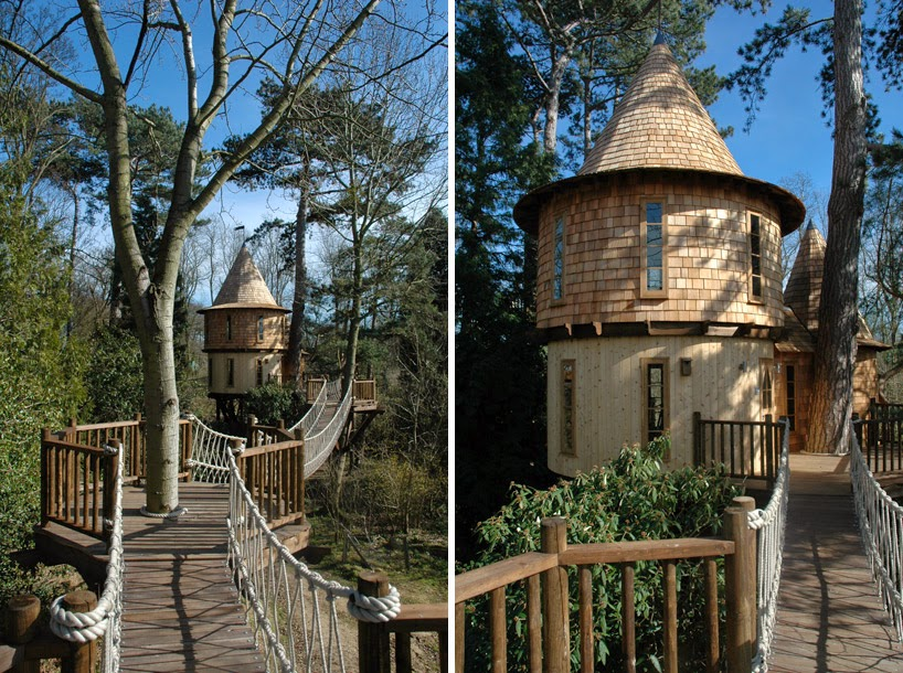 2. This is the children's quarters. - This Family Lives In A Tree House That Looks Like A Castle. Think That's Cool? Wait Until You See The Inside.