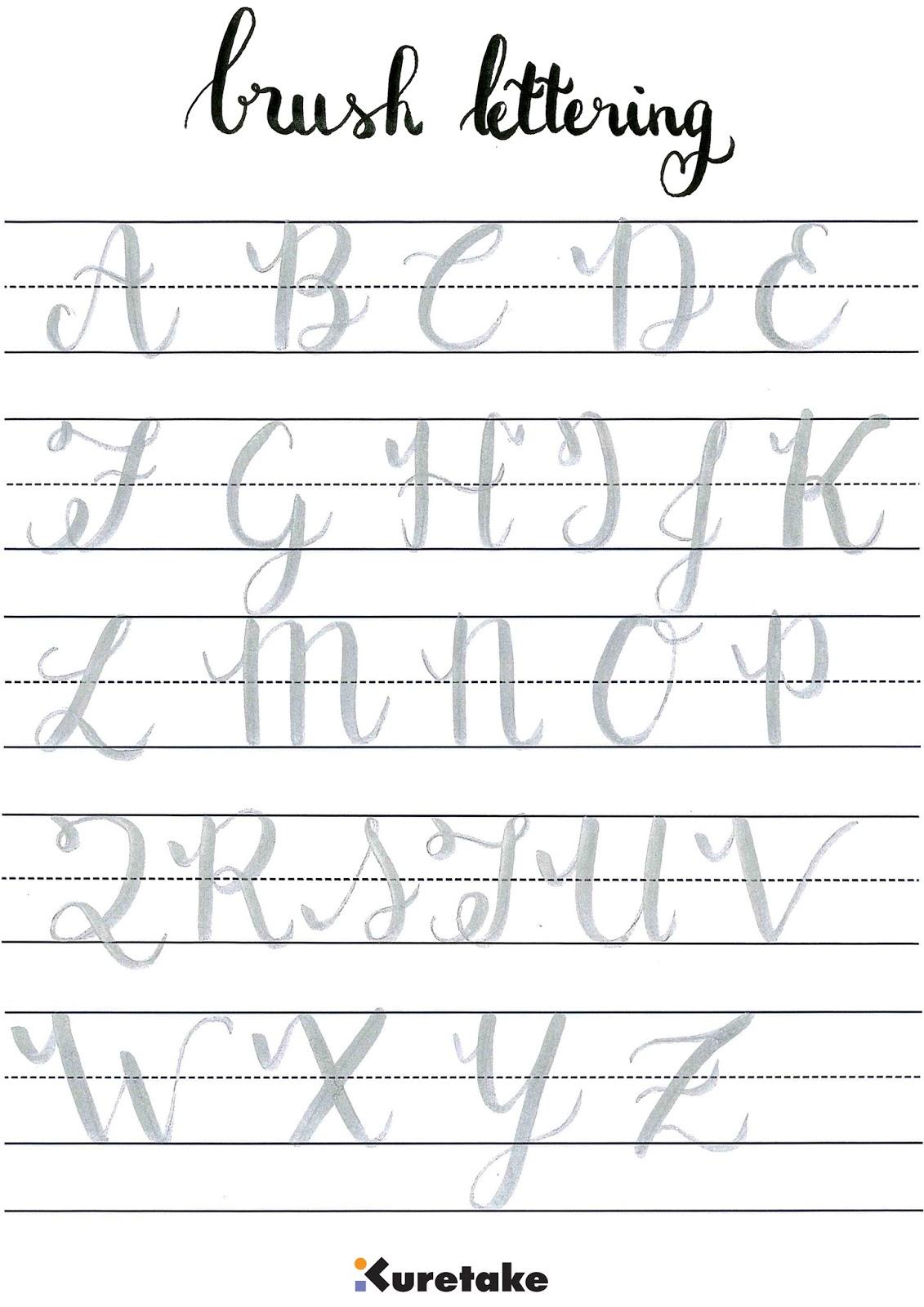 Kuretake uk how to do brush lettering