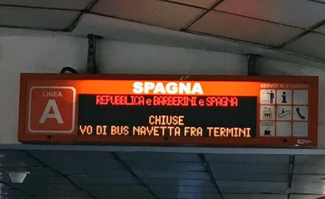 Situazione Trasporto Pubblico Roma lunedì 25 marzo