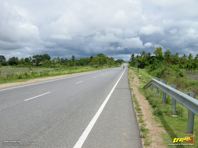 Approaching Monsoon clouds along the Mysore-Madikeri road, in Karnataka