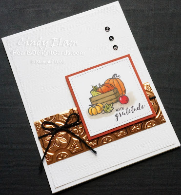 Heart's Delight Cards, Many Blessings, Thankful, Stampin' Up! Holiday 2018,